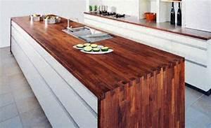 Plan De Travail Cuisine Bois : cuisine plan de travail en lot de cuisine moderne fonc ~ Dailycaller-alerts.com Idées de Décoration