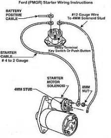 Ford 460 Torque Mini Starter Wiring Diagram by Ford Upgrade To A Pmgr Starter Bob S Garage Library