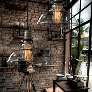 vintage american country style industrial clear and amber With country style hanging light fixtures