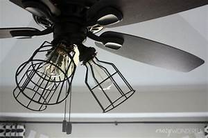 Diy cage light ceiling fan ? a hanging home