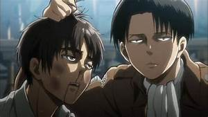 Levi beats the shit out of Eren - YouTube