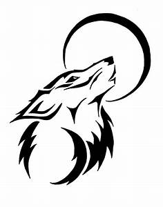 Tribal Wolf Moon Clipart