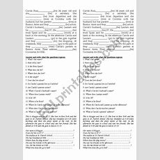 Elementary Reading Comprehension  Esl Worksheet By Miss Em