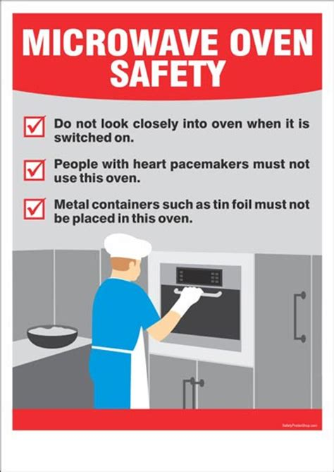 kitchen safety poster microwave oven safety safety