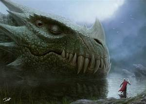 Sleeping Dragon by Dennis 'Disse86' : ImaginaryMonsters