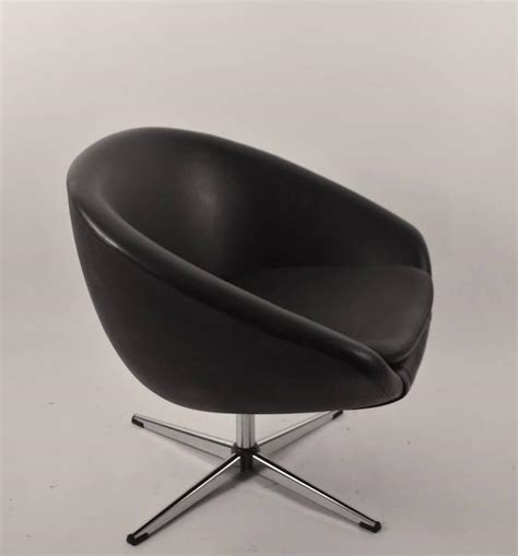 single black overman swivel pod chair for sale at 1stdibs