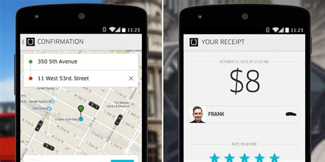 uber app android should you tip when you take an uber business insider
