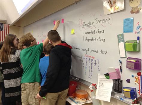 washington middle teacher township nwitimes graders eighth sticky written pad questions board they