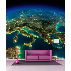 Papier Peint Geant : papier peint g ant vue sur la terre 250x250cm art d co ~ Premium-room.com Idées de Décoration