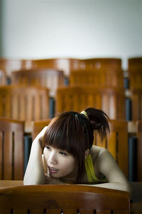 tired girl  stock photo  beautiful chinese girl