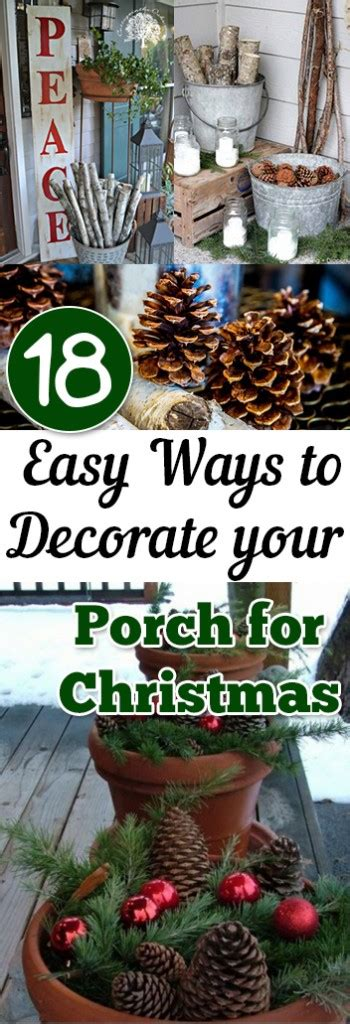easy ways  decorate  porch  christmas