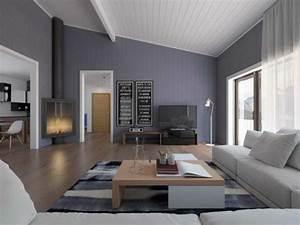 Wandfarben Wohnzimmer Beispiele : wandfarbe grau 120 atemberaubende bilder ~ Markanthonyermac.com Haus und Dekorationen