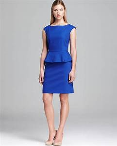 Royal Hair Color Chart Lyst French Connection Dress Peplum In Blue