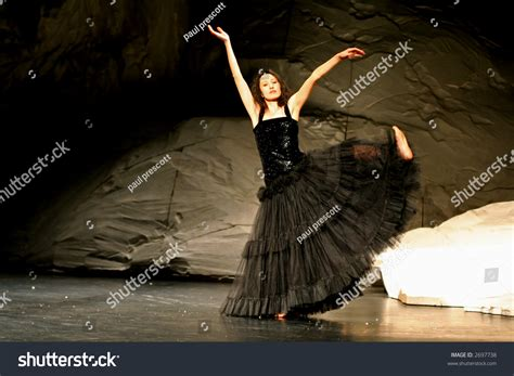 Female Asian Dancer During Pina Bausch Performance Stock