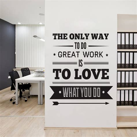 decoration bureau office decor typography inspirational quote wall