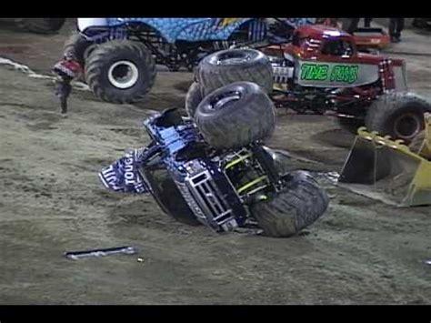 monster truck videos crashes monster truck crashes youtube
