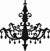 Chandelier Silhouette Coloring Vector Pages Getdrawings sketch template