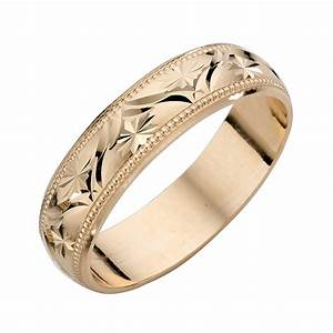 9ct yellow gold ladies39 patterned wedding band hsamuel With patterned wedding rings