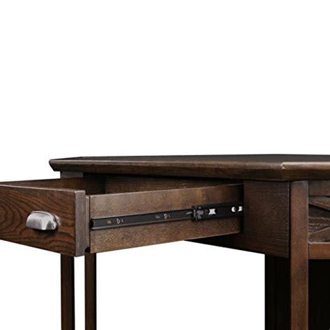 corner computer desk oak finish leick corner computer and writing desk chocolate oak