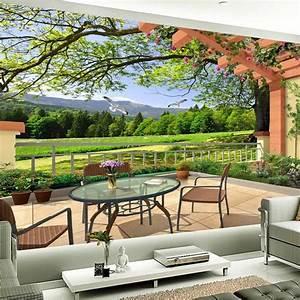 Modern Home Decor Custom 3D Mural Wallpaper Wood Fiber ...