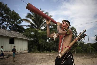 Indigenous Tribe Remote Tembe Tribes Brazil Fight