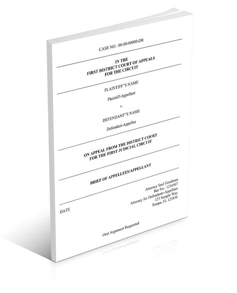 appellate brief template an appellate brief template for word