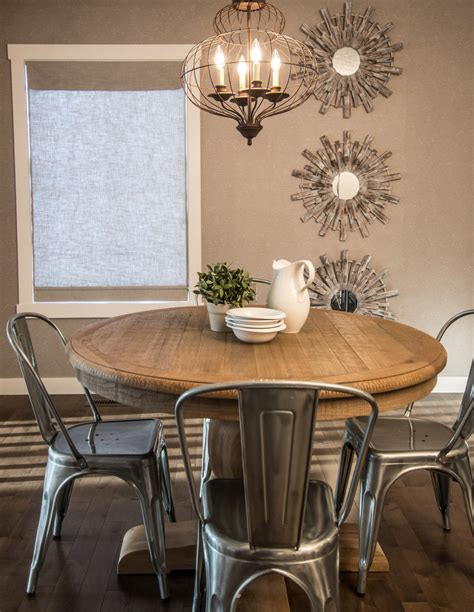 Rustic Round Dining Table Dining Room Contemporary With