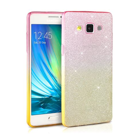 telephone samsung a5 glitter fashion bling bling tpu silicone phone cover for samsung galaxy a5