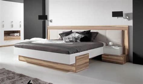 mobilier bureau haut de gamme lit bois design adulte 2 places avec tte de lit large