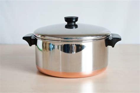 revere ware   quart dutch oven copper bottom revereware