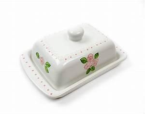 Butterdose Keramik Weiß : keramik butterdose wei mit rosafarbenen kleinen rosen und spitze 250 gr ungarnikat ~ Watch28wear.com Haus und Dekorationen