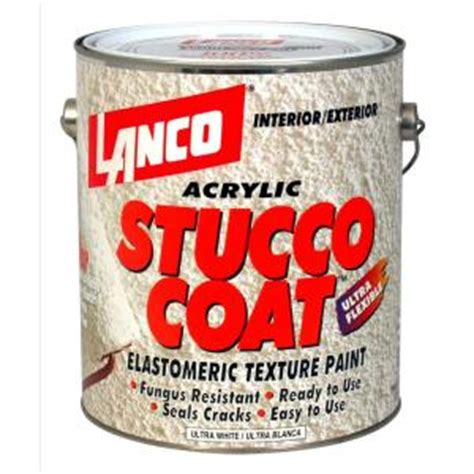 lanco stucco coat color 1 gal acrylic ultra white