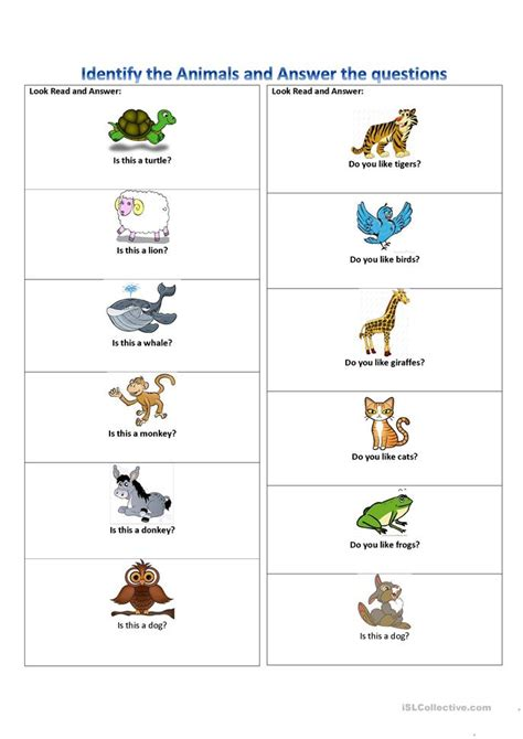 Animals Is This A ? Do You Like ? Worksheet  Free Esl Printable Worksheets Made By Teachers