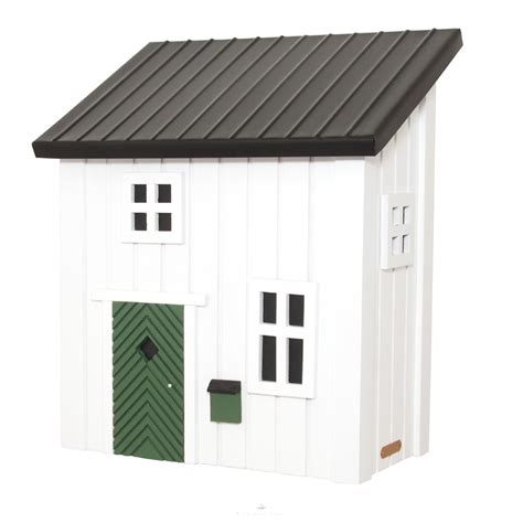 Kleines Schwedenhaus Briefkasten Postkasten aus Holz in