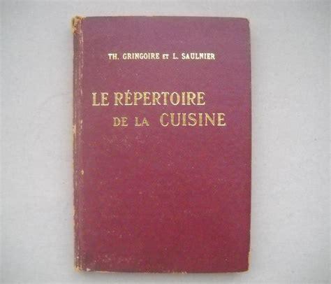 le repertoire de la cuisine culinaria th gringoire l saulnier le repertoire de la cuisine 1969 catawiki