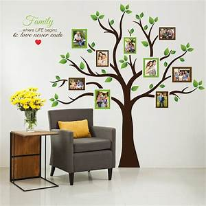 timber artbox large family tree photo frames wall decal With cheap tree wall decal target