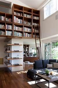 Bücherwand Mit Leiter : 17 best ideas about floating bookshelves on pinterest bookshelves living room bookshelves and ~ Indierocktalk.com Haus und Dekorationen