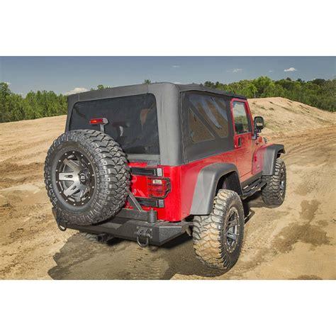 jeep wrangler yj rugged ridge 11546 42 tire carrier xhd rear bumper 76 06 jeep cj and wrangler