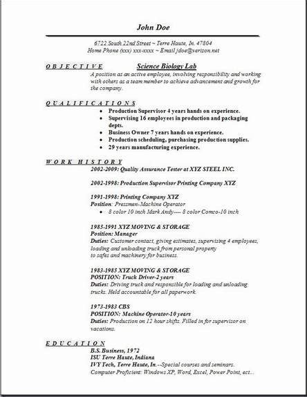 Biology Resume Objective Exles by Science Biology Lab Resume Occupational Exles Sles Free Edit With Word