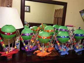 diy centerpieces for ninja turtle party birthday parties