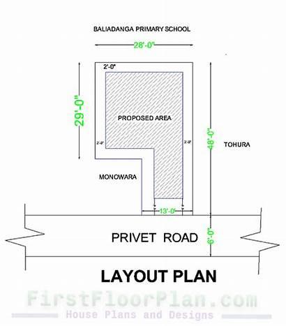 Floor Plan Section Building Columns Plans Dimensions
