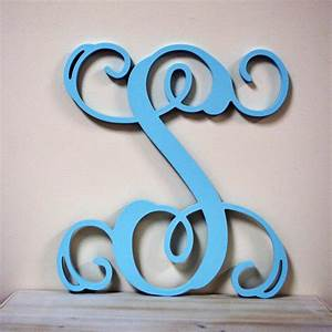 16 inch painted wooden monogram letters wall hanging letters for 16 wooden letters