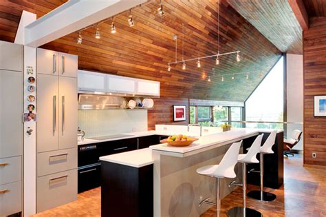 kitchen  wooden walls  ceiling