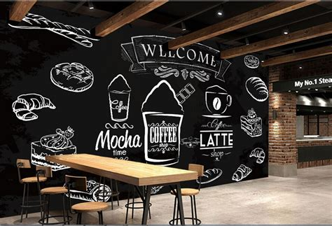 custom food shop wallpapercoffee breadd modern murals