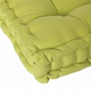 Coussin Vert Anis : coussin de sol 40x40cm vert anis ~ Teatrodelosmanantiales.com Idées de Décoration
