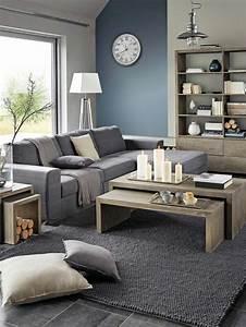 peinture gris perle salon maisonreveclub With idee couleur peinture salon 3 un salon en gris et blanc cest chic voil224 82 photos qui