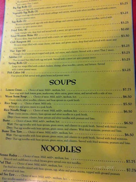 menu  thai kitchen   springfield il