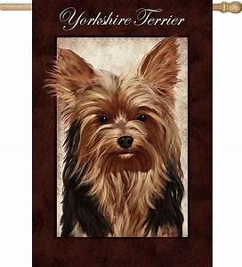 yorkie yorkshire terrier dog house garden flag decorative With yorkie dog house