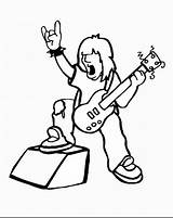 Rock Coloring Pages Star Printable Birthday Disco sketch template