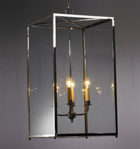 chandeliers large brass and glass lantern